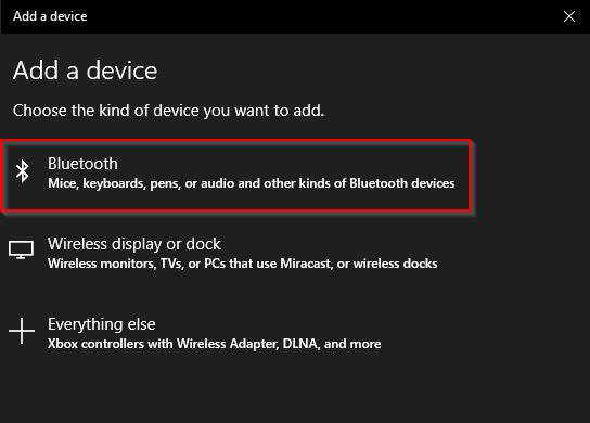 Add A Bluetooth Device On Windows 10