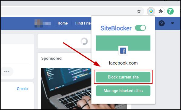 Block A Site Using Site Blocker