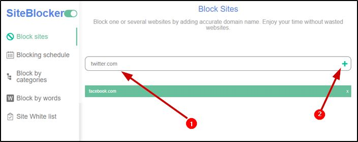 Block multiple sites