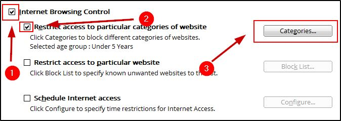 Block Sites By Categories On Antivirus
