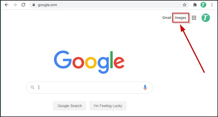 Google Images on Google homepage