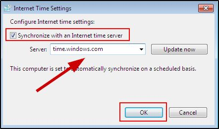 Sync Time With The Internet On Windows