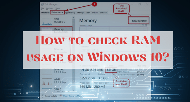 Check RAM usage on Windows 10