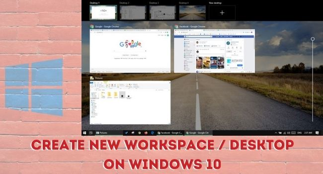 Create new Desktop-Workspace on Windows 10