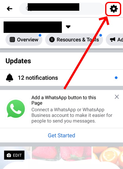 Facebook Page Settings On Phone