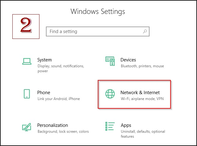 Network Internet Settings On Windows 10