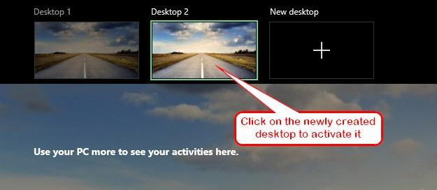 Windows 10 Go To New Desktop