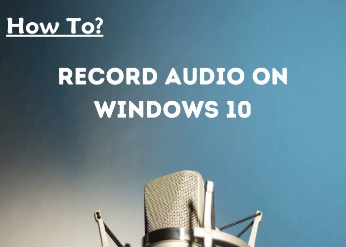 Record Audio On Pc