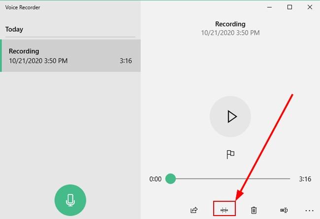 Trim Option On Voice Recorder App