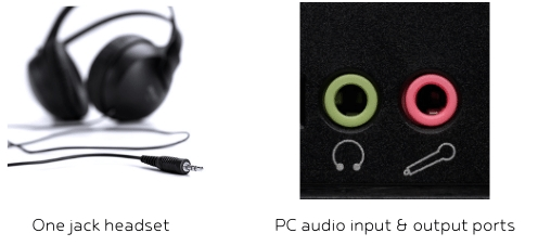 headset mic on PC with one jack