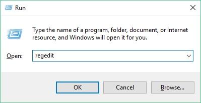 Open Registry Editor from Windows Run option