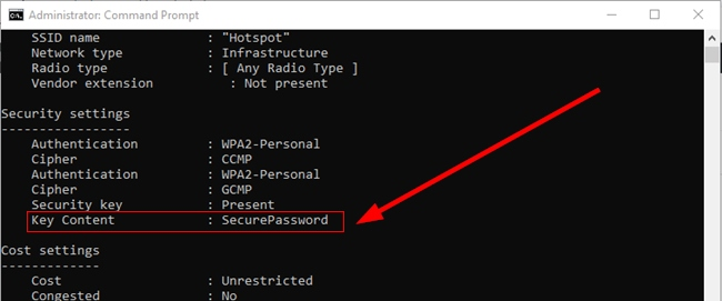 Wi-Fi Password On Command Prompt