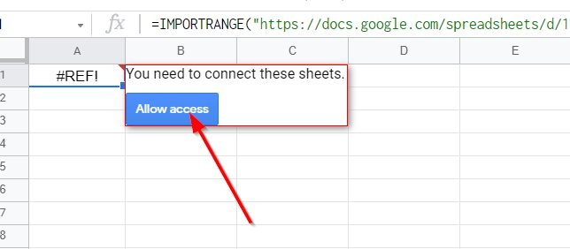 Allow Connection Between Two Google Sheets