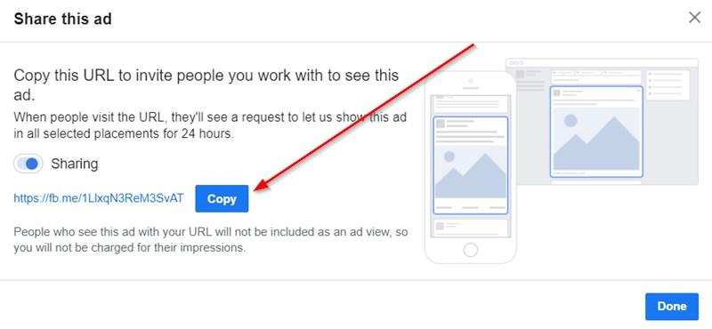 Sharing Link For Facebook Ads